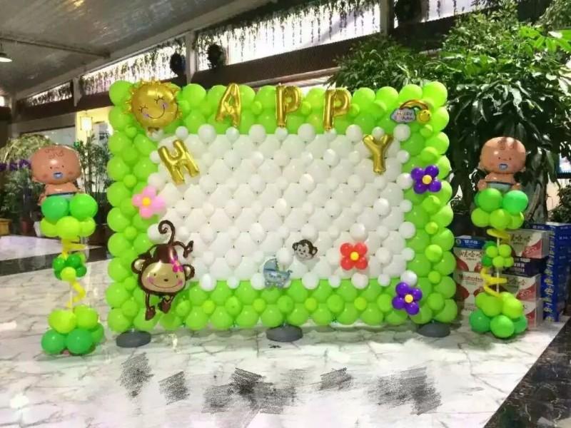 婚礼婚房生日宝宝满月周岁各种聚会气球布置