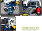 小鲁班 拼装玩具 狂牛F1维修站模型赛车