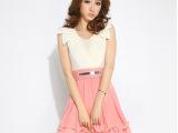 2014春夏季新款韩版女装V领无袖雪纺连衣裙甜美背心裙子