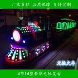 新款复古仿古无轨小火车户外室内游览观光车等游乐设备