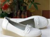 头层牛皮牛筋底坡跟专业护士鞋