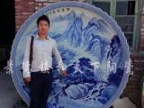景德镇 青花瓷器 盘 陶瓷大盘子 手绘