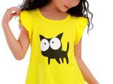 女童t恤短袖夏季2014新款纯棉韩版夏装潮儿童宝宝童装大童女上衣