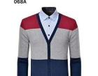 海澜之家男式拼色加绒保暖长袖T恤假两件,拼色保暖加