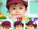 Lemonkid 2011年韩国 最新款 超可爱宝宝格子鸭舌帽/