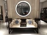 浙江東陽宇軒紅木家具,新中式羅漢床,實木羅漢床銷售