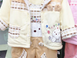 2015冬款套装批发 婴儿冬装宝宝棉衣套装婴幼儿秋冬外套儿童棉衣
