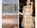 2.0CM/2.0CM金银横条纹欧根纱,女装女裙家纺装饰手工用布料 T32