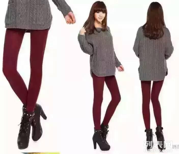 秋季新品七彩棉一体裤 女士保暖打底裤修身显瘦百搭紧身踩脚裤袜