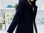2014秋冬女装新款韩版中长款翻领呢子大衣斗篷毛呢外套批发代发