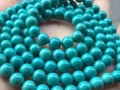顶级绿松石手串怎么鉴别?绿松石桶珠回纹珠散珠批发