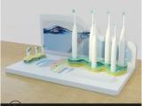 电动牙刷展架支架自动牙刷展示托架声波震动牙刷亚克力陈列架伍亿