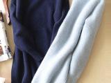 欧洲站欧美时尚简约针织打底衫长袖貂绒衫女外贸原单正品大码-019