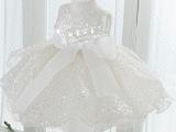 2014新款闪亮片儿童礼服花童公主裙女童伴娘婚纱白纱裙演出表演服
