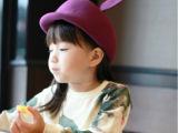 秋冬韩国进口男女儿童骑士帽羊毛呢帽米奇耳朵马术帽子
