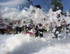 较彩色泡泡跑活动泡沫机喷射式泡沫机金华派对泡沫机
