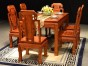 缅甸花梨木餐桌图片