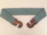 源头工厂生产串珠腰带 米珠编织弹性腰饰 珠绣腰带 织珠腰链