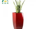 批发定制园林景观高光弧形创意玻璃钢花盆 酒店别墅植物花箱花器