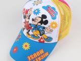 2015新款 卡通米老鼠儿童太阳网帽 鸭舌棒球遮阳帽米奇赠礼品帽