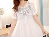 2014新款孕妇装蕾丝拼接复古名族风孕妇连衣裙
