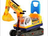 厂家直销 585A挖机带帽 靠背挖机 挖机童车 可坐人挖机童车