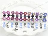 韩国饰品儿童盘发发饰镶钻 卡通蝴蝶钻抓夹梅花小抓夹子头饰批发