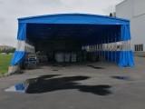 訂做室外工程活動雨蓬超市伸縮推拉遮陽蓬展銷移動車棚廣告帳篷傘