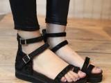 2014夏季超舒适显白百搭女鞋潮 套趾厚底松糕鞋学生凉鞋批发