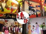 商业空间壁画咖啡吧餐厅墙绘家居别墅墙体彩绘