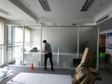 静电免胶磨砂贴办公室玻璃膜防撞条镂空腰线写真喷绘