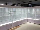 厦门多层玻璃货架金属多功能货架家用简易组合铁架