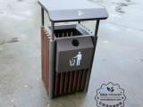 户外方形钢木垃圾桶定做钢木果皮箱厂家直销