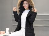 2016新款女式棉衣中长款韩版修身羽绒棉