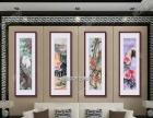 黄石酒楼装饰字画现货批发、手绘国画定制裱装挂轴