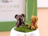 苔藓微景观饰品 可爱小熊公仔组合 DIY