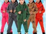 童装2015新款秋款女大童装男女童全棉卫衣三件套运动套装一件代发