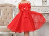 韩版女童夏装裙蕾丝玫瑰花公主裙/儿童礼服连衣裙6.1表演礼服裙