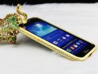 三星G7106镶钻金属手机边框 锌合金属带钻电镀金属边框手机壳套