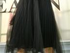 2015秋冬女装新款韩版半身裙纯色高腰百褶裙修身百搭网纱半身裙潮