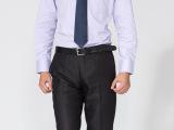 职业男士衬衫秋装男士长袖衬衣免烫商务英伦正装韩版修身潮男
