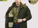 战地吉普冬装棉衣男装afs jeep棉服夹克男式外套大码加厚羊羔