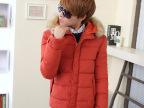 2014冬季羽绒棉衣男韩版时尚毛领青少年棉服冬天男装男式外套棉衣