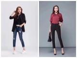 韩式伊人时尚裤子秋冬款女装库存品牌折扣女装厂家一手货源哪里有