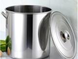 加厚不锈钢桶 不锈钢汤桶 带盖储水桶 油桶高桶多用大汤锅25-6