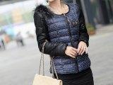 2013新款冬装棉衣棉服貉子毛修身短款羽绒棉衣可拆卸毛领专柜正品