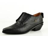 2014欧洲站新款单鞋头层牛皮真皮女单鞋英伦风尖头魔术贴女士单鞋