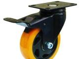 双轴承脚轮供应3寸4寸5寸平板刹车通花轮
