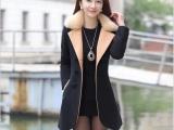 新款毛呢外套女中长款双面羊毛大衣外套