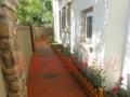 庭院绿化木屋凉长廊亭花架木地板栅栏雨棚假山水系喷泉